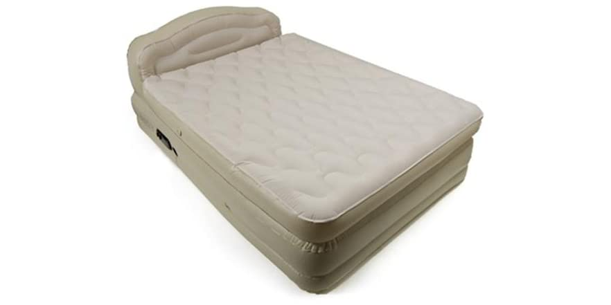 serta 18 5 raised air bed with with headboard queen. Black Bedroom Furniture Sets. Home Design Ideas