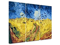Wheat Field w/Crows 3 pc set - 2 Sizes
