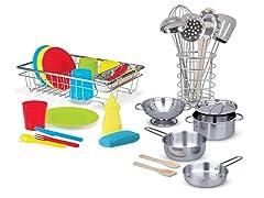 Utensils, Pots & Pans, Wash & Dry Dish Set