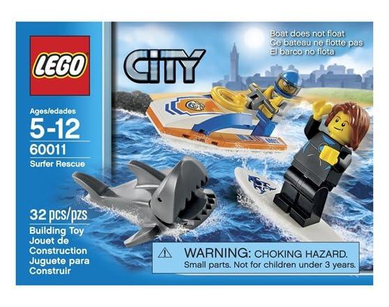 Lego Shark Toys For Boys : Lego city surfer rescue toy building set