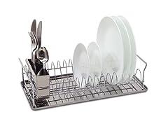 Compact Chrome Dish Rack