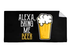 """Alexa, Bring Me Beer"" Beach Towel"