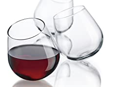 Roly Poly 10oz Stemless Wine Glasses - S/6