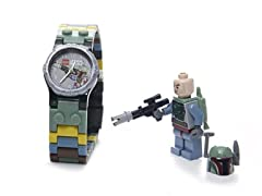 Star Wars Boba Fett Watch w/Minifigure