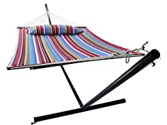 Hammock w/ Spreader Bar & Pillow