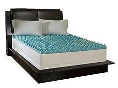 "2"" Gel Topper & Contour Pillow Set-King"