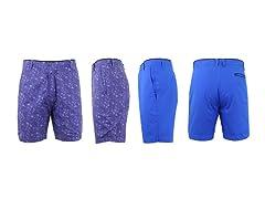Men's Cotton Flat Front Reversible Short