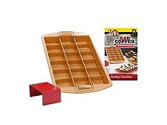 Red Copper Brownie Bonanza Pan
