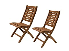 Folding Side Chairs, 2-Pack