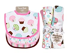 Trend Lab Bib & Burp Cloth Set - Cupcake