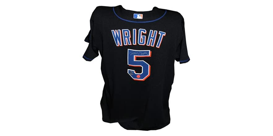 David wright signed home jersey for David wright signature