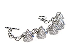 SS Small 5 Hershey Kiss Bracelet