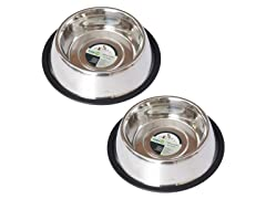 2 Pk Non-Skid Pet Bowl - 5 Sizes
