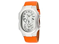 Philip Stein Orange Leather Watch