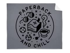 """Paperback and Chill"" Mink Blanket"