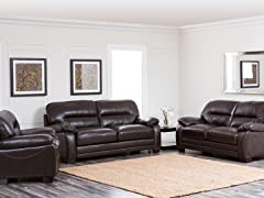 Jefferson 3PC Sofa, Loveseat, & Armchair