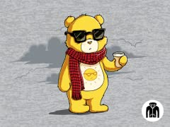 Couldn't Care Less Bear Zip Hoodie
