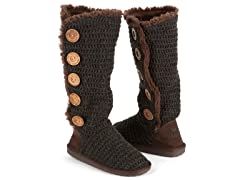 MUK LUKS® Crochet Button Up Boot