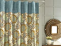 Nicole Miller Marrakesh Shower Curtain