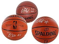 Modern Era Autographed Basketballs