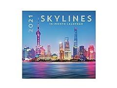 2021 Full-Size Wall Calendar Skylines