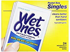 Wet Ones Antibacterial Thick Moist Towel
