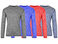 Men's LS Moisture Wicking Tees 4-Pack