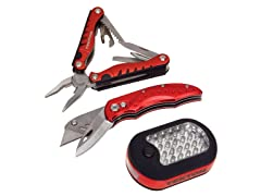 Multi-Tool, Utility Knife, LED Light Set