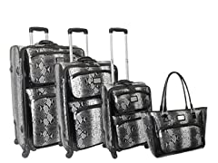 Deluxe Spinner 4pc Set-Black Python