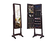 SONGMICS 6 LEDs Mirror Jewelry Cabinet