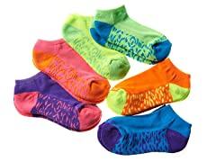 Sketchers 6pk Girls Socks - Bright 2