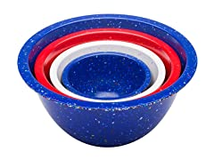 Assorted Confetti Nested Bowls S/4