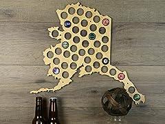 Beer Cap Map: Alaska