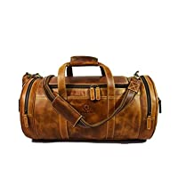 Deals on Aaron Leather Travel Duffel Bag