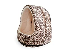 Furry Canopy Cave Pet Bed - Cheetah