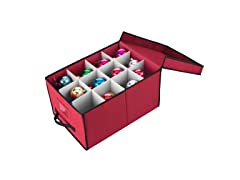 Elf Stor Premium Christmas Ornament Storage Chest