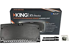 King Outdoor BT Speaker w/ Awning Light