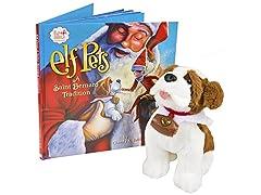 The Elf on the Shelf Pets A Saint Bernard Tradition
