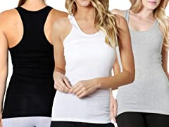 Women's 3 Pack Basic Tank Top