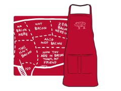 """Which Way to Bacon Town?"" Apron"