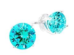 SS w/ Swarovski Zirconia Mint 5cttw Earring