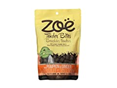 Zoe Tender Bites for Pets, 5.3-Oz, Pumpkin/Ginger