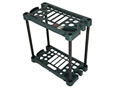 Compact Garden Tool Storage Rack - Fits Over 30 Tools