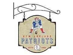New England Patriots Vintage Tavern Sign