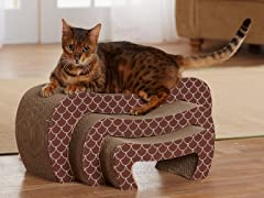 Cat's Pajamas Cardboard Cat Scratcher - Brown