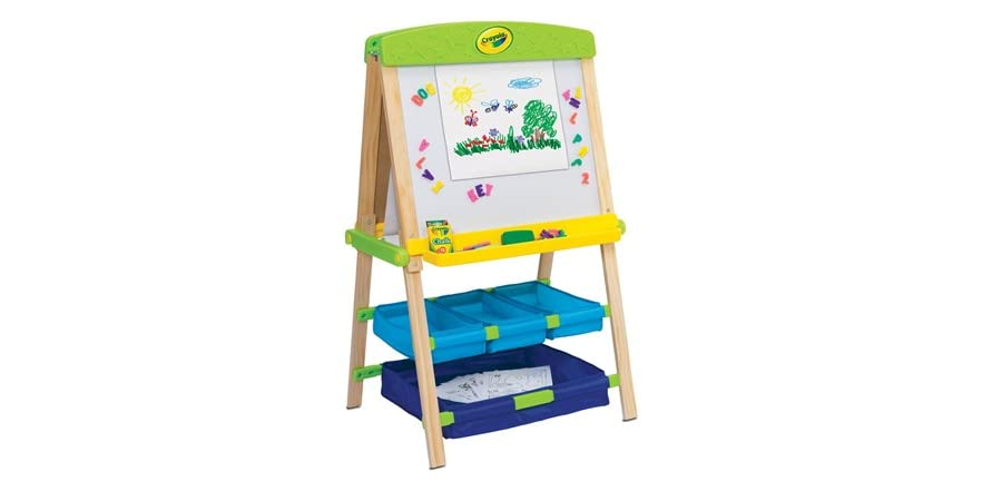Best Crayola Toys For Kids : Grow n up crayola draw store wood easel playset kids