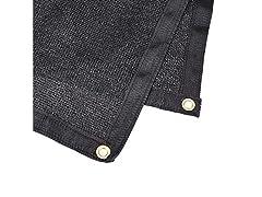 Heavy Duty Black Knitted Mesh Tarp, 1pk