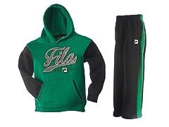 Fila Fleece Set - Varsity, Grn/Blk (7)