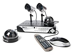 4CH/4Cam Sony CCD Security System w/500G HD
