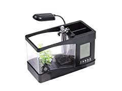 PET LIFE AQ3BK All-In-One Digital Desktop Aquarium Black